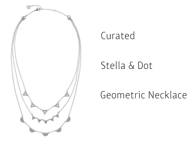 Stella & Dot Geometric Pavé Necklace